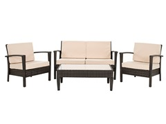 Piscataway 4-Piece Set, Brown/Beige