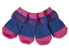 Purple & Blue Dog Socks - Rubberized