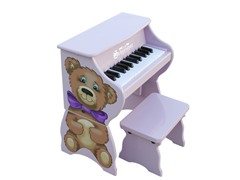 25-Key Teddy Bear Piano with Bench