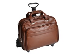 "Midway Leather FlyThru™ 17"" Wheeled Laptop Case"
