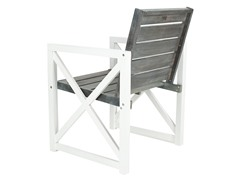 Irina Outdoor Arm Chair, White/Grey