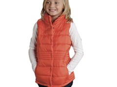 Orange Quilted Vest (XS-XL)