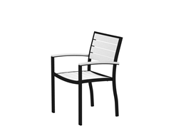 Euro Dining Chair, Black/White