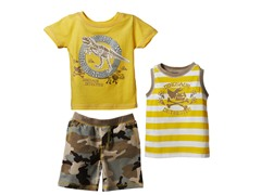 Dinosaur 3-Piece Short Set (2T-4T)