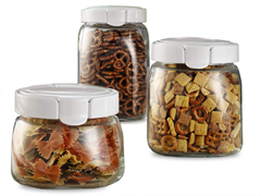 Snapware 3pc Glass Canister Set