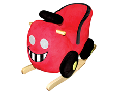Rocking Red Car with Sound