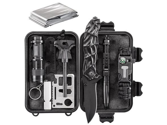Army Gear 10 In 1 Essential Emergency Survival Kit