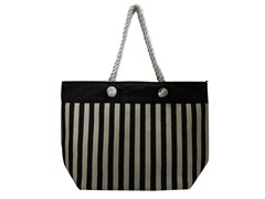 Straw Bag, Black/White