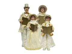 "28""-21"" Cream Victorian Carolers Set"