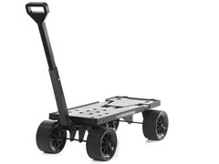 Expandable Flatbed Cart, Black