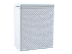 Twill Upright Hamper - White