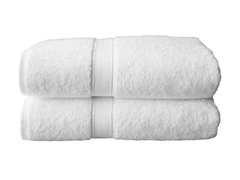 Terry Cloth Bath Towels - Set of 2 - White