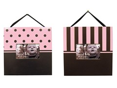 Pink and Brown 2-Piece Frame Set