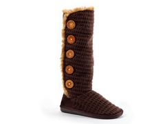 MUK LUKS ® Malena Crotchet Button Up Boot, Brown