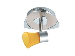 1-Light Satin Ceiling Mount, Amber