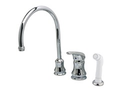 Widespread Faucet with Sprayer, Chrome