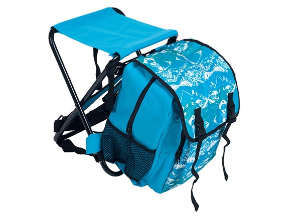 Backpack And Folding Stool Combo Blue