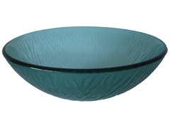 Stelo Round Glass Vessel Sink, Green