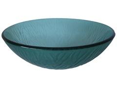 Stelo Round Glass Vessel Sink, Green