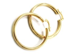 18kt Gold Plated 15mm Huggies