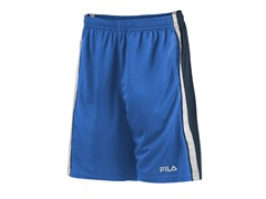 Side Striped Training Shorts, Blue/White