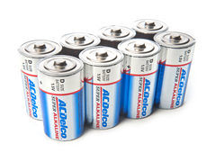 """D"" Alkaline Batteries - 8 Pack"