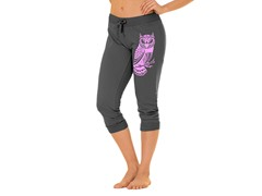 Bottoms Up Owl French Terry Capri, Gray