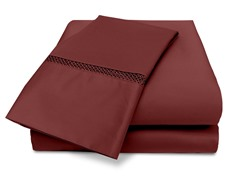Veratex Princeton 500TC Sheet Set-Merlot-5 Sizes