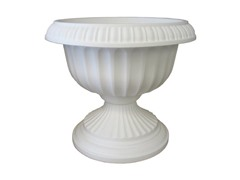 Grecian Urn, 18-Inch, White