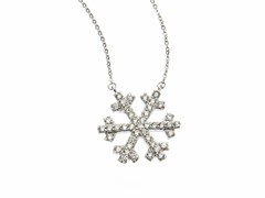 18kt White Gold Plated Snowflake