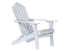 TIAB Folding Wood Adirondack Chairs, Grey or Red