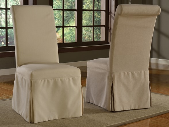 Regent Slipcover Parsons Chair Set Of 2