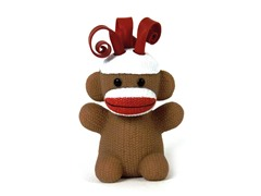 Curly Pop Sock Monkey