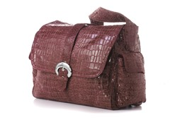 Kalencom Buckle Bag - Wine Crocodile