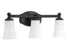 3-Light Bath Fixture, Oil Rubbed Bronze