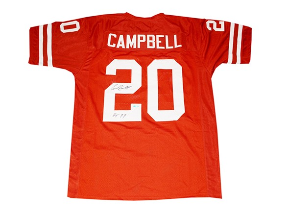 size 40 24d23 9f774 Earl Campbell Texas Signed Jersey HT 77