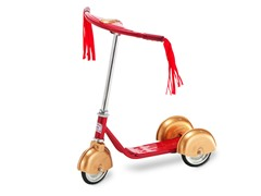 Retro Scooter-Red & Gold