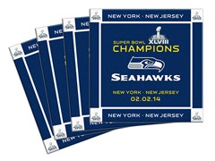 Super Bowl Champs Ceramic Coaster 4-Pack