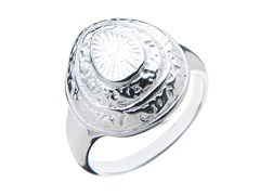 Sterling Silver Engraved Dome Ring