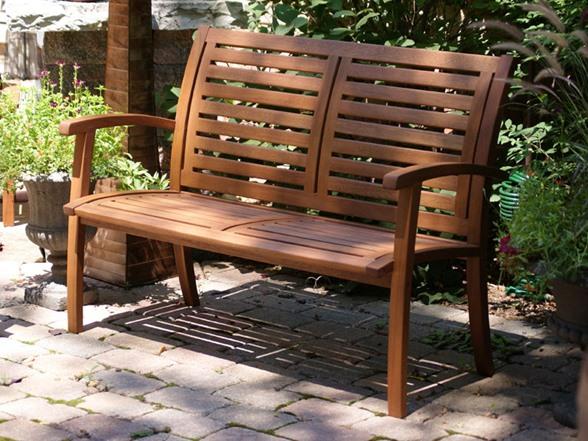 Outdoor Interiors Luxe Eucalyptus Bench