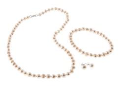 Freshwater White Pearl Set