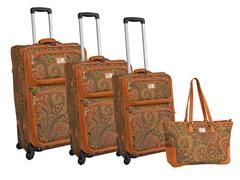 Paisley 4-Piece Luggage Set