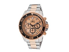 Invicta Men's Chronograph, Rose/Silver