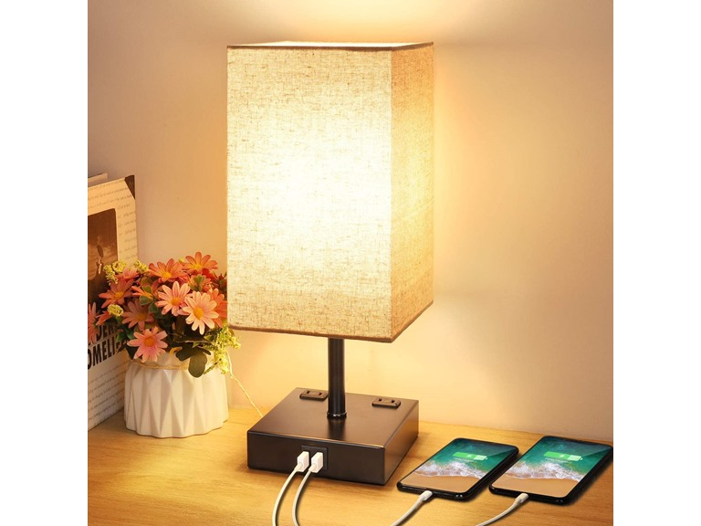 Touch Control Table Lamp w/ 2 USB Ports