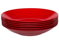"Ella Bowl 8.25"" - S/6 - Red"