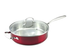 "Kevin Dundon 11"" Saute Pan: Red"