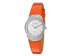 Women's White / Orange Leather Watch