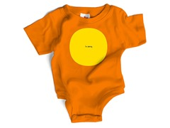 "Wrybaby ""I'm Peeing"" Orange Bodysuit"