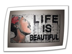 Life is Beautiful by Mr. Brainwash - Rolled Canvas