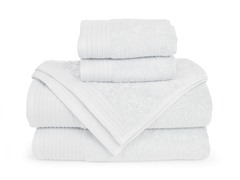 6-Piece Supima Cotton Towel Set-White